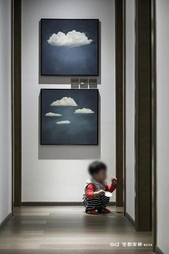 110平米三室两厅工业风风格玄关装修图片大全