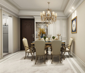 富裕型100平米三欧式风格餐厅设计图