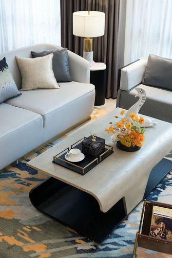 富裕型90平米混搭风格客厅装修图片大全