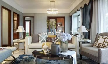 富裕型120平米三室一厅法式风格客厅欣赏图