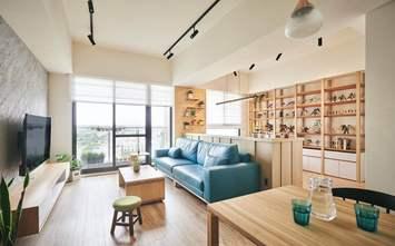 100平米三日式风格客厅图