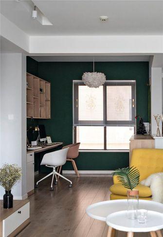 富裕型90平米三室两厅北欧风格书房图片