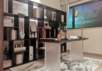 豪华型140平米中式风格书房装修案例