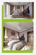 富裕型90平米法式风格卧室图