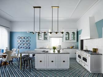 140平米英伦风格厨房欣赏图