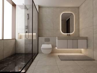豪华型140平米三室两厅英伦风格卫生间装修图片大全