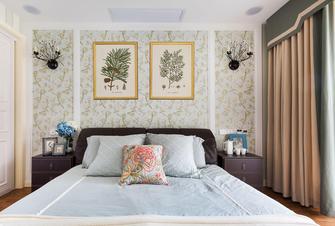 富裕型100平米三室两厅美式风格卧室效果图