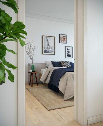 富裕型70平米一室两厅北欧风格卧室装修案例