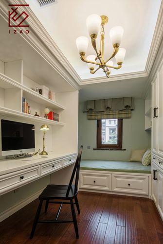 富裕型110平米别墅美式风格书房图