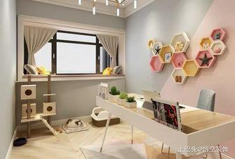 20万以上80平米一居室现代简约风格书房图