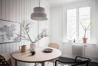 富裕型40平米小户型北欧风格餐厅欣赏图