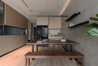 富裕型140平米三室两厅法式风格餐厅欣赏图