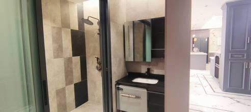 110平米美式风格卫生间图片