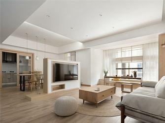 富裕型三室两厅日式风格客厅图