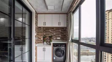 10-15万110平米三室一厅田园风格阳台装修案例