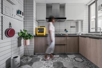 20万以上90平米美式风格厨房欣赏图