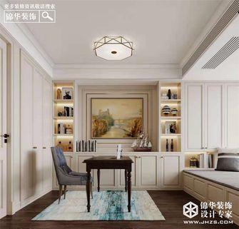 豪华型140平米四室两厅美式风格书房图