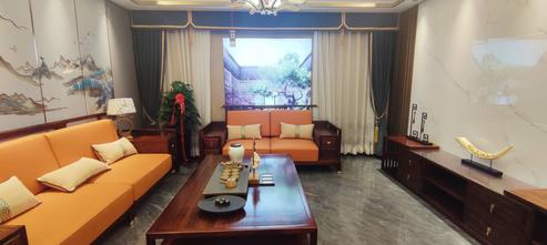 60平米一居室中式风格客厅设计图