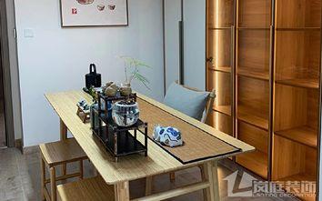 20万以上110平米三室两厅日式风格书房欣赏图