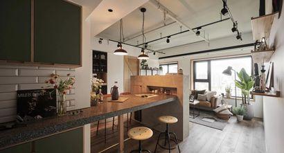 富裕型140平米三室两厅工业风风格餐厅图片大全