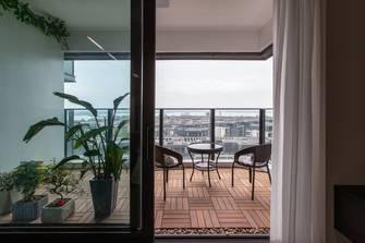 20万以上140平米三室两厅现代简约风格阳台欣赏图