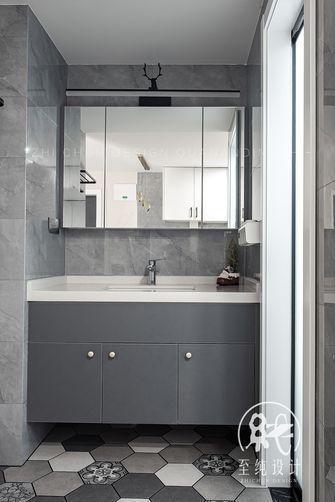 富裕型60平米一室一厅现代简约风格卫生间设计图