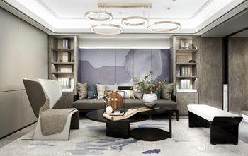 富裕型110平米三室两厅中式风格书房图片大全