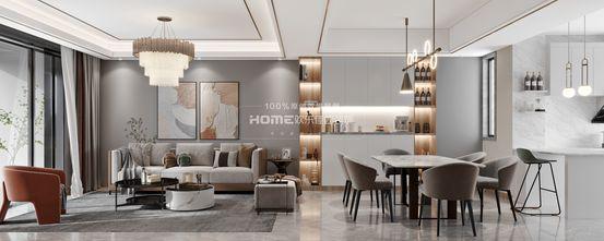 140平米四室三厅轻奢风格客厅设计图