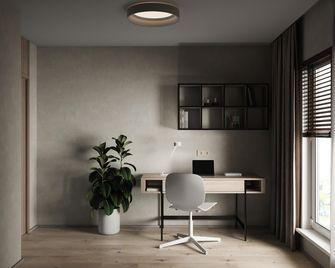 富裕型80平米三室两厅现代简约风格书房图片