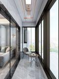 经济型120平米三现代简约风格阳台装修案例