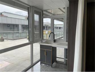 经济型110平米三室两厅中式风格阳台欣赏图