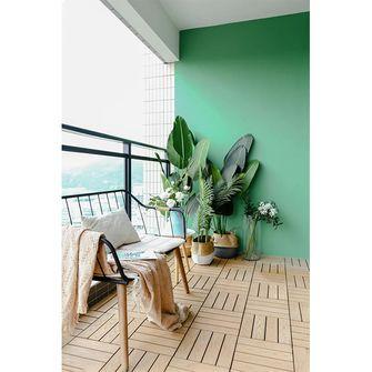富裕型130平米四室两厅日式风格阳台图