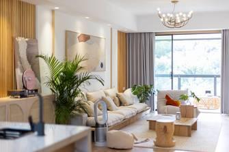 20万以上140平米公寓混搭风格客厅装修图片大全