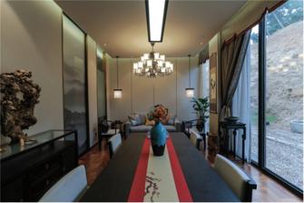 富裕型140平米三室两厅中式风格餐厅图片