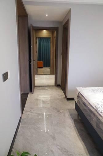 140平米三室一厅港式风格走廊图片
