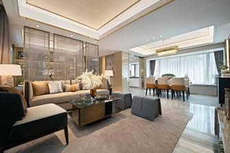 120平米三室一厅轻奢风格客厅设计图