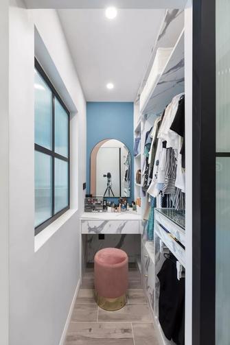 5-10万80平米三室一厅现代简约风格衣帽间图