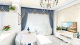 经济型110平米三室一厅欧式风格客厅装修图片大全