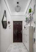 5-10万90平米三室两厅北欧风格走廊装修效果图