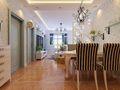 140平米三室一厅地中海风格餐厅图