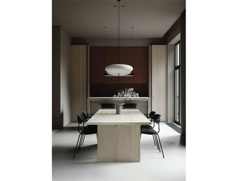 豪华型140平米三室两厅现代简约风格餐厅装修效果图