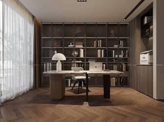 140平米复式现代简约风格书房图
