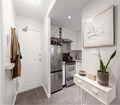 经济型60平米公寓现代简约风格玄关装修案例