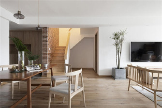 富裕型120平米复式日式风格餐厅欣赏图