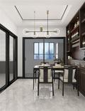 130平米三室一厅中式风格餐厅设计图