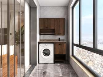 20万以上110平米三室一厅中式风格阳台效果图