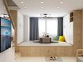 富裕型30平米小户型日式风格客厅欣赏图