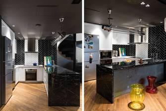 20万以上140平米三室两厅混搭风格厨房图