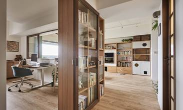 80平米现代简约风格书房图片