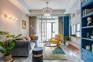 富裕型100平米三室两厅混搭风格客厅图片大全